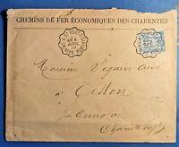 France-Envel.avec cachet ambulant (TB-1168-2) sur N° 101 Saintes à St Fort-s-Gir