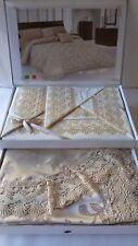 Completo 5 pezzi matrimoniale con coppia di lenzuola più copriletto Benedetta.