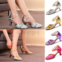 Women's Latin Tango Dance Shoes High Heel Salsa Ballroom Sequins Fashion Shoes