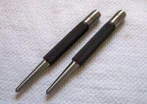 (2) New STARRETT = No.117D = 4mm (5/32) = Machinists Center Punch Tools