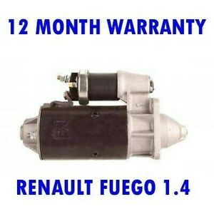 FOR RENAULT FUEGO 1.4 COUPE 1980 1981 1982 1983 1984 1985 RMFD STARTER MOTOR