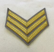 Sergeant Chevron, Intelligence Corps, Glebe Grey, Gold, Mess Dress, 3 Bar, Sgt