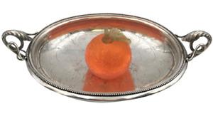 Austrian Continental Silver 19th Century Ornate Centerpiece Bowl