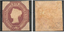 1854 VICTORIA 6d. EMBOSSED MAUVE SG. 58 - ORIGINAL GUM VLH * VERY FINE - RR !