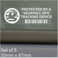 5 x Vauxhall GPS Tracking Device Security Stickers-Car Alarm Tracker,Sign,Notice
