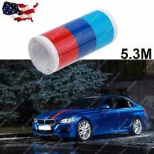 5.3m M-Colored Stripe Sticker Vinyl Decal For BMW 1 2 3 4 5 6 7 Series M3 X5 E60