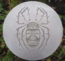 "spider tiki plaque mold 10"" x .75"" thick plastic mold plaster concrete casting"