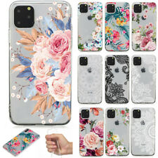 For iPhone 12 Pro Max 11 Pro XS Max X 8+ Thin Flower Pattern Silicone Case Cover