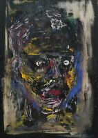 Exceptional Mid Century Abstract Expressionist O/B Figure, Signed
