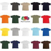 Fruit of the Loom Mens Womens Premium 100% Cotton Blank Plain Tee T-Shirt