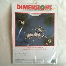 Dimensions Chickadees in the Snow Counted Cross Stitch Kit 8533 Christmas Adams