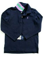 Ralph Lauren Girls Polo Top Long Sleeves Navy Size 6 NWT