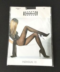 Wolford Individual 10 Nearly Black Tights Size M