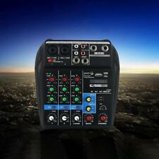 Mixer Console 48V Phantom Power 4 Channels Audio Mixer USB