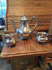 REED BARTON REGENT  SILVERPLATE TEA COFFEE POT SUGAR BOWL CREAMER SET VINTAGE