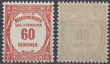 FRANCE TIMBRE TAXE N°58 NEUF ** LUXE GOMME D'ORIGINE MNH