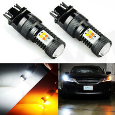 JDM ASTAR 2x 3157 Dual Color Switchback LED Turn Signal Light Bulbs For Ford