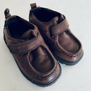 Timberland Toddler Boys Sz 7 Brown Winter Hook And Eye Closure Shoes
