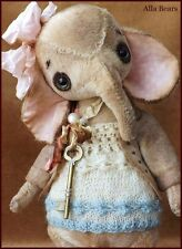 READY to SHIP Bears artist Antique Vintage Elephant Teddy Bear doll OOAK baby nr