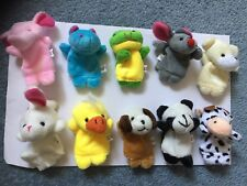 10pcs Finger Puppets Toys  Velvet Small Animals  NEW