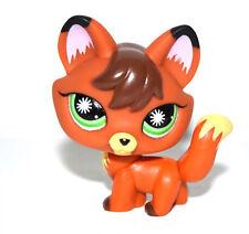 Littlest Pet Shop Animal Green Eyes Brown Fox Figure Doll Child Toy