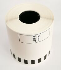 4 rolls Compatible DK2113 Black on CLEAR Continuous Film NO Cartridge