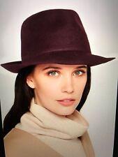 NEW Authentic Stella McCartney Burgundy Trilby Fedora Hat Size 58 Net-a-Porter