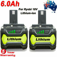 18V 6.0AH For Ryobi One+ Plus P108 Lithium Battery RB18L50 P104 P780 RB18L40 New