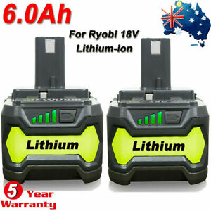 18V 6.0AH For Ryobi One+ Plus P108 Lithium Battery RB18L50 P104 P780 RB18L40 New