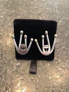 Mid Century Ed Levin Modernist Spider Earrings- Pre-1970