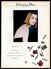 1982 Christian Dior Vintage PRINT AD Maquillage by Tyen Makeup Cosmetics 1980s