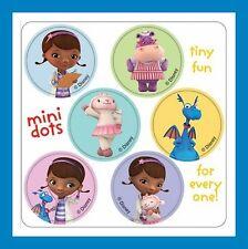 96 Doc McStuffins Dot Stickers (16 Sheets) Disney McStuffin Party Favors