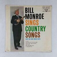 BILL MONROE Sings Country Songs VL3702 LP Vinyl VG near + Cover VG