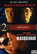 Bad Influence / Masquerade NEW!! DVD Rob Lowe,James Spader,Kim Cattrall 2 MOVIES