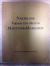 Nachlass Viktor und Helene Mautner-Markhof Auktionskatalog 1927 porcelain etc