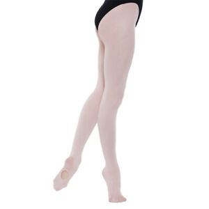 Children's Convertible Ballet 60 Denier Tights Girls Dance Tights (Ages 3 to 13)
