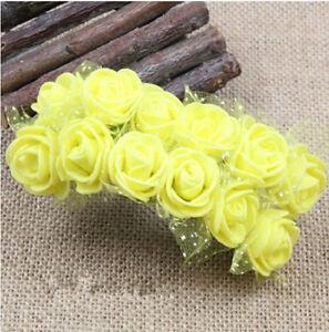 144pcs/lot  2cm Peach Mini Artificial Foam Roses for Corsages Wedding Favours