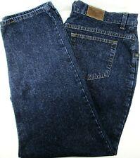 LL Bean Women Jean Blue Size 20WR Double Wide Leg Brass Rivet Waist 39 Inseam 29