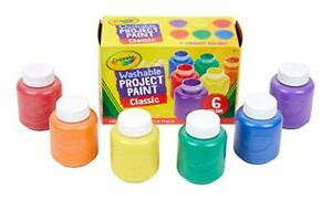 Washable Paint For Kids Toddler Baby Finger Craft  Non Toxic Pack of 6 Paints
