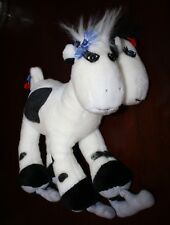 Vintage 1987 Up In The Air Two 2 Headed Jersey Cow on Skates Plush Doll 13""