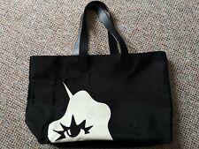 Lulu Guinness Tote Shopper Large Zipper Bag Unicorn Black and White.
