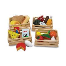 Melissa & Doug 10271 Kisten-Set mit Lebensmittel für Kaufladen NEU! #