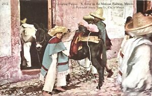 Mexico,Loading Pulque at Mexican Railway,Sonora,1900s Postcard