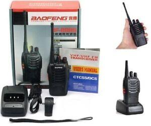 BAOFENG BF-888S RICETRASMITTENTE PMR RADIO UHF 400-470 MHz WALKIE TALKIE x1 t1