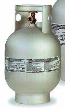 NEW 10LB ALUMINUM VERTICAL BBQ GRILL PROPANE TANK QCC POL LIGHTWEIGHT LPG MARINE