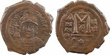 Maurice Tibère, follis, Constantinople, 5e officine, an IIII = 586 - 8