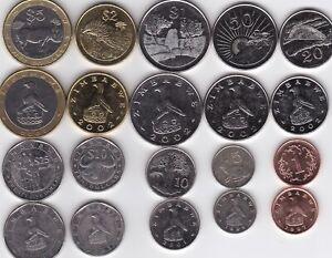Zimbabwe - set 10 coins 1 5 10 20 50 Cent 1 2 5 10 25 Dollars 1997 - 2003 aUNC