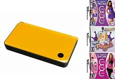 Yellow Nintendo 2DS i XL Console + My Fashion Show My Perfect Prom Bratz Ponyz 2
