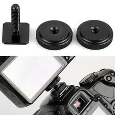 "Durable POP 3/8"" Tripod Mount Screw to Flash Hot Shoe Adapter Camera Stand Fad"