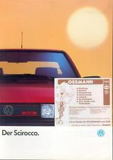 VW Scirocco Prospekt 1989 1/89 brochure Autoprospekt folheto catalogus Katalog